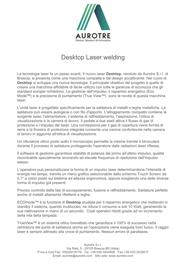 Presentazione anteprima - Laser Desktop