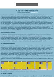 Anteprima Elettroerosione - Cos'è l'elettroerosione