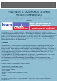 Anteprima Elettroerosione - Passivazione di sovrastrutture