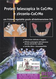 Protesi telescopica in CoCrMo e zirconio-CoCrMo